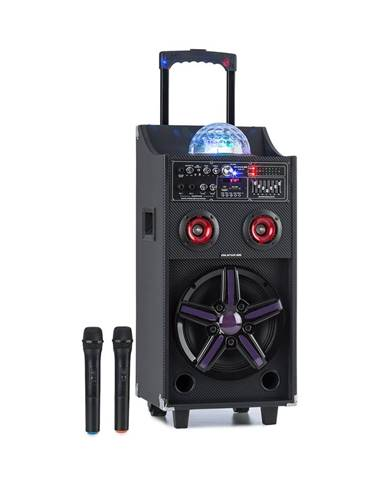 Auna Pro DisGo Box 100, přenosný PA systém, 50 W RMS, BT, SD slot, LED diody, USB, akumulátor, černý