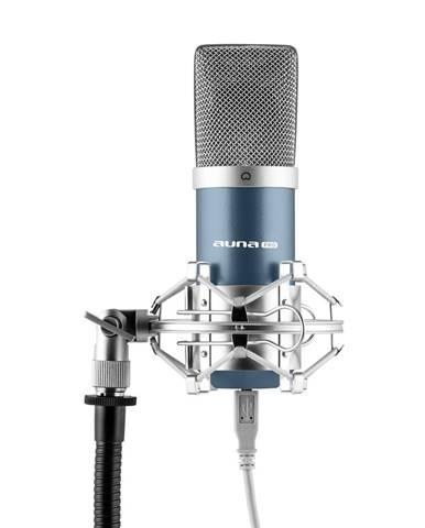 Auna Pro MIC-900BL, modrý kondenzátorový mikrofon, kardioidní, studiový, USB