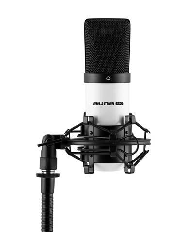 Auna Pro MIC-900WH, bílý kondenzátorový mikrofon, kardioidní, studiový, USB