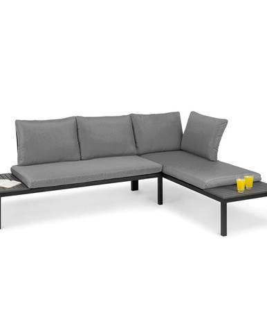 Blumfeldt Cartagena, lehátko, 2 dvoumístná sedačka se stolkem, ocel, polyester