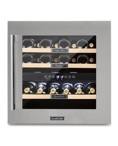 Klarstein Vinsider 36, chladnička na víno, 2 chladicí zóny, 5-22 ° C, 94l, ušlechtilá ocel