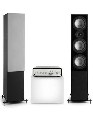 Numan Drive 801, stereo sada, stereo zesilovač, věžový reproduktor, černá/šedá