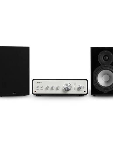 Numan Drive 802, stereo sada, stereo zesilovač, regálový reproduktor, černá