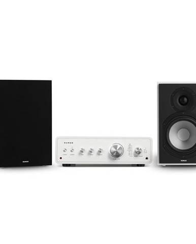Numan Drive 802, stereo sada, stereo zesilovač, regálový reproduktor, černá/bílá