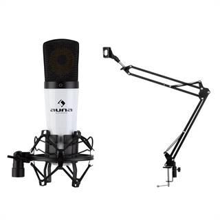 Auna MIC-920, USB mikrofonní sada V3, kondenzátorový mikrofon, otočné rameno, ochranná taška