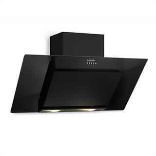 Klarstein Zola 90 digestoř, 90 cm, 640 m³/h, led, sklo, ušlechtilá ocel, černá barva