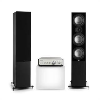 Numan Drive 801, stereo sada, stereo zesilovač, věžový reproduktor, černá/černá