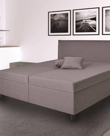 čalouněná postel ariana 180x200, šedá, vč. mat., pol. roštu, úp