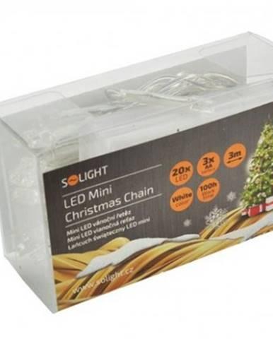 Vánoční dekorace vánoční osvětlení solight 1v50w, led, bílé, 3m
