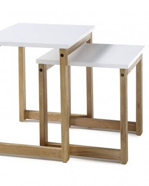 MC AKCENT Konfereční stolek - dřevěný konferenční stolek juvena - set 2 kusů