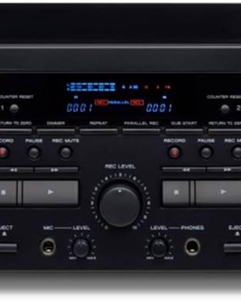 TECC Tuner dvojitý kazetový magnetofon s usb teac w-1200, černý