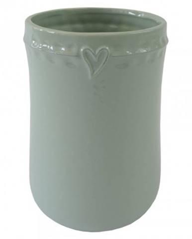 Keramická váza vk49 mátová se srdíčkem