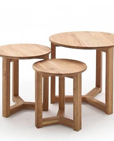 Konfereční stolek - dřevěný konferenční stolek maude - set 3 kusů