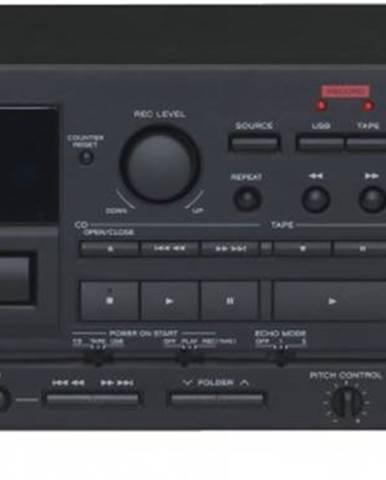 Tuner kazetový magnetofon a cd přehrávač s usb teac ad-850, černý
