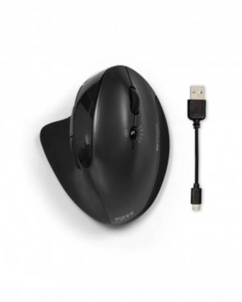 Port Connect Bezdrátové myši bezdrátová myš port connect, ergonomická, nabíjecí, černá