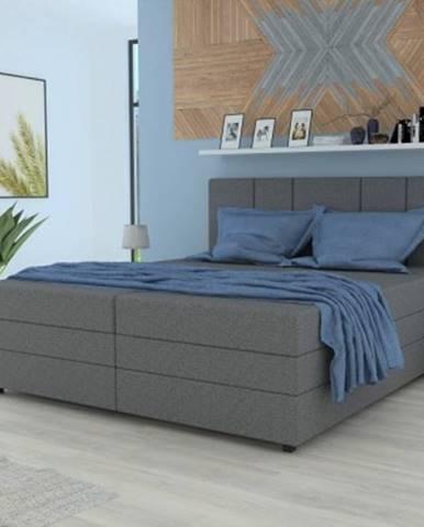 čalouněná postel alexa 180x200, vč. matrace a úp, šedá