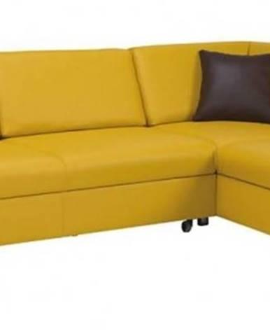 Rohová sedačka rozkládací vigo pravý roh úp žlutá - ii. jakost