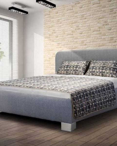 Blanář čalouněná postel arlo 140x200, šedá, včetně matrace a úp