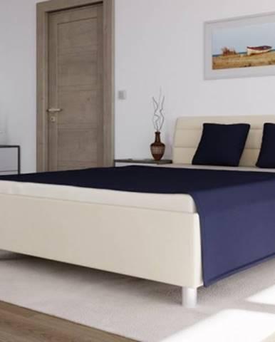 čalouněná postel alison 140x200, béžová, vč. mat., pol. roštu,úp
