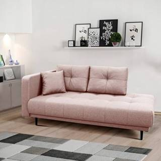 Lenoška bony s úložným prostorem, levá strana, růžová