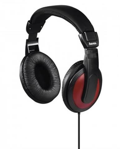 Sluchátka přes hlavu sluchátka hama basic4music,černá/červená