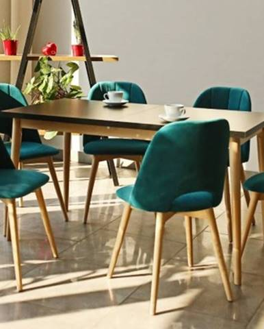 Jídelní set jídelní set bryne-6x židle, 1x rozkládací stůl