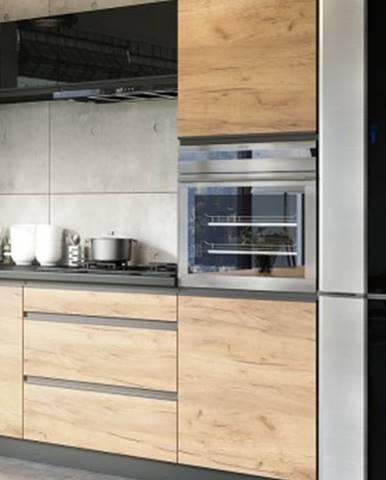 Rohová vysoká skříňka na vestavnou troubu ke kuchyni brick