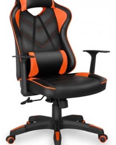 Herní křeslo connect it lemans pro oranžové cgc-0700-or