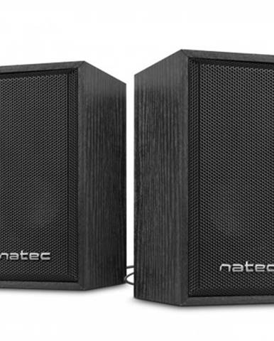 PC reproduktory 2.0 reproduktory 2.0 natec panther 6w, dřevo