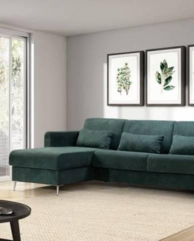 Rohová sedačka rozkládací sia levý roh úp zelená