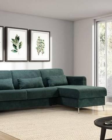 Rohová sedačka rozkládací sia pravý roh úp zelená