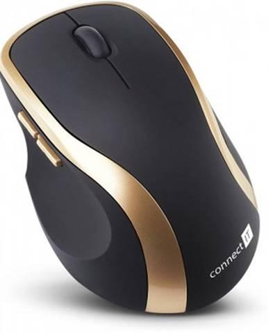 Bezdrátové myši bezdrátová myš connect it ci-260, černo-zlatá