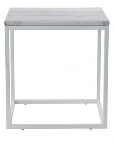 Konferenční stolek accent - bílý rám