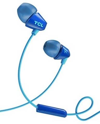 Špuntová sluchátka tcl socl100bl sluchátka do uší, drátová, mikrofon, modrá