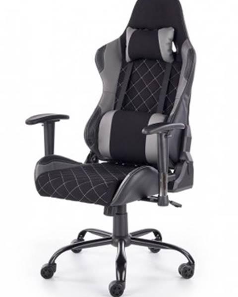 Halmar Herní židle lets play černá, šedá