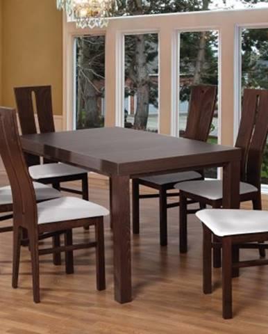 Jídelní set set 1 - 6x židle, stůl, rozkládací