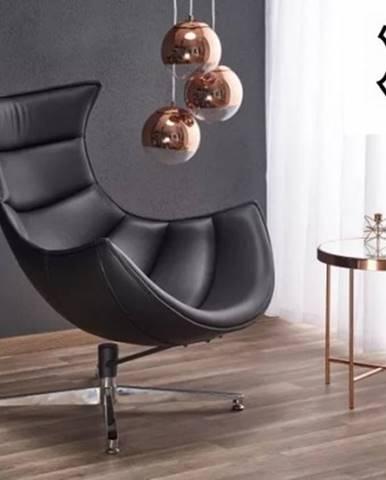 Samostatné křeslo kožené křeslo luxor černá