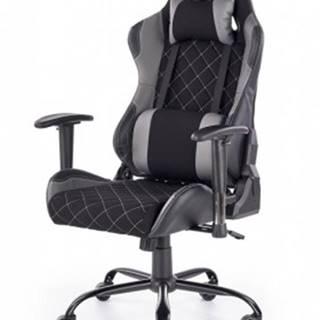 Herní židle lets play černá, šedá