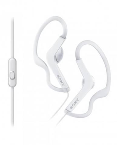 Špuntová sluchátka sony sluchátka active, handsfree, bílé, mdras210apw.ce7