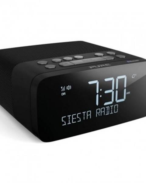PURE Radiopřijímač radiobudík s dab+, fm a bluetooth, pure siesta rise s, grafitová