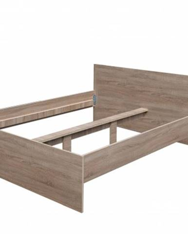 Dřevěná postel nikola i, 160x200, bez roštu a matrace