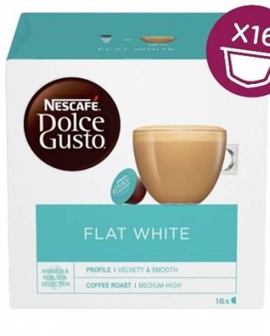 Kapsle, náplně kapsle nescafé dolce gusto flat white, 16ks