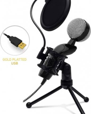 Mikrofon connect it youmic cmi-8008-bk plus, usb a pop filtr