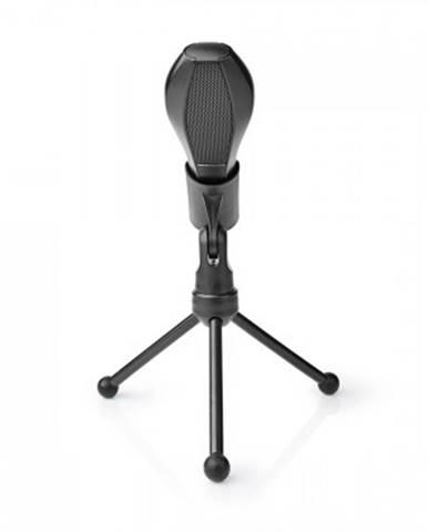 Stolní všesměrový mikrofon nedis mictu100bk, černý