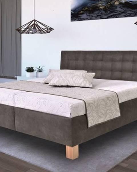 Nábytek Pohoda čalouněná postel victoria 160x200 vč. matrace, pol. roštu a úp