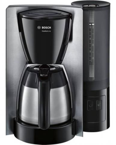 Překapaváč kávy kávovar bosch tka 6a683 comfortline, nerez/černá