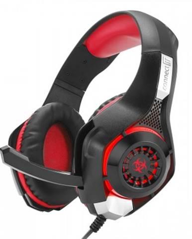 S mikrofonem connect it biohazard herní sluchátka s mikrofonem, červená