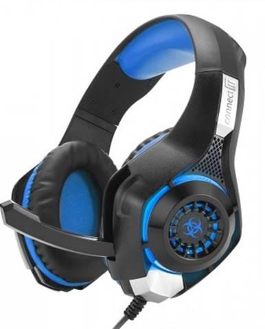 S mikrofonem connect it biohazard herní sluchátka s mikrofonem, modrá