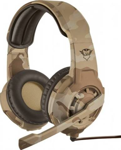 Sluchátka přes hlavu herní headset trust gxt310d radius, desert camo