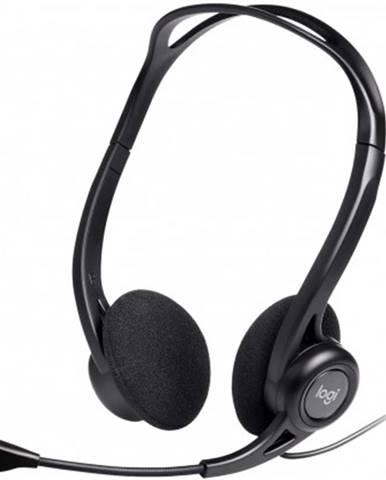 Sluchátka přes hlavu sluchátka logitech corded pc 960, s mikrofonem, černá